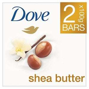 Dove Purely Pampering Shea Butter Beauty Soap Bar 2 x 100g 79P  SUPERDRUG (Free C&C)