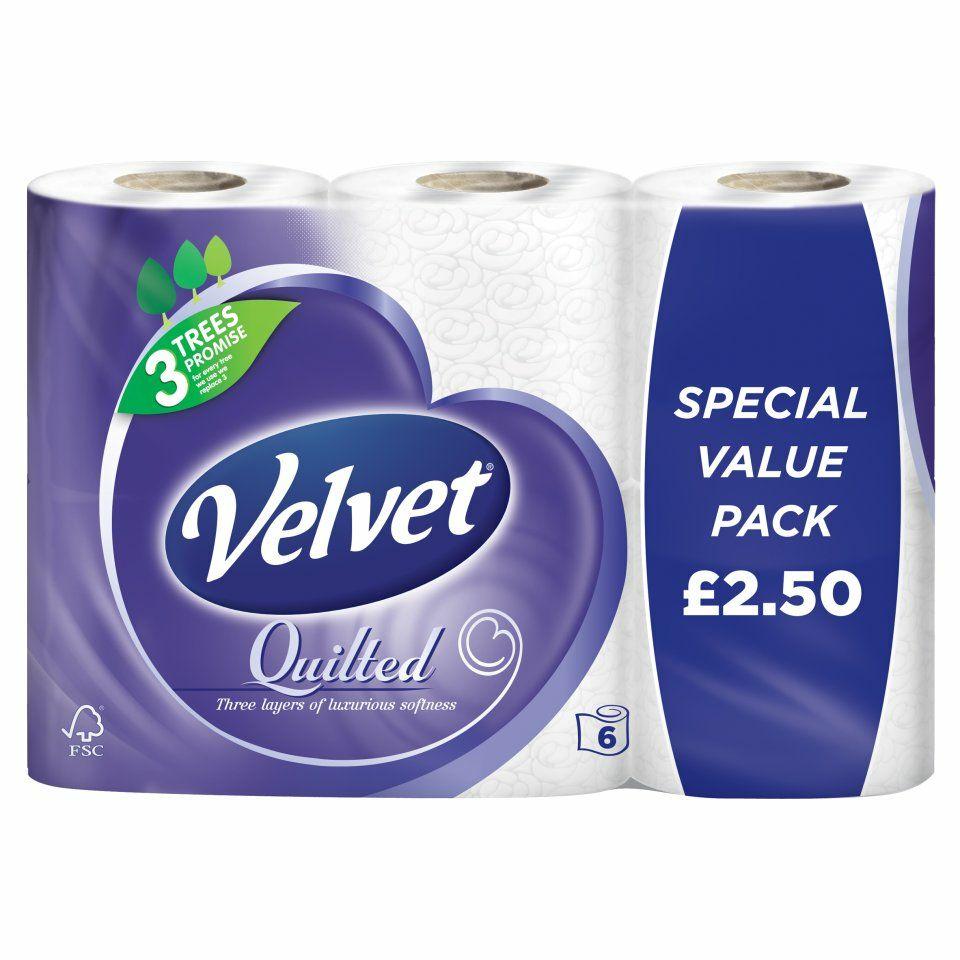 Velvet Quilted 6 Rolls - £2 @ Iceland