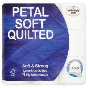 Petal Soft Quilted 4 Ply Soft and Strong Toilet Tissue 9 Rolls £3 @ Iceland