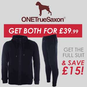 One true saxon mens Caldebeck hoody and track pants *price glitch* £22.99 plus delivery (free delivery over 50, see code below!)  Get The Label