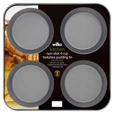 Wilko 4 Cup Yorkshire Pudding Tin 23.4 x 23.4 x 2.2 cm  £1.25 C+C reduced from £2.50 @ Wilko