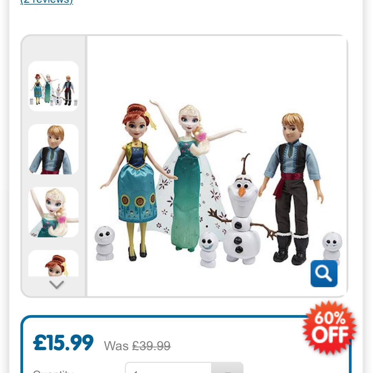 Frozen fever gift set 60% off @ entertainer now £15.99