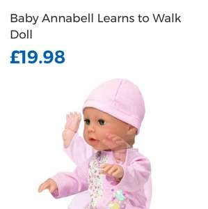 Baby Annabelle learns to walk £19.98 at toys are us