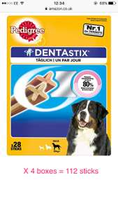 Large pedigree Dentastix 112 for £15.99 @ amazon with subscribe & save - Prime Exclusive