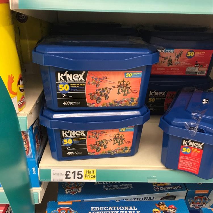 K'nex 50 model tub £15 @ Tesco instore / online