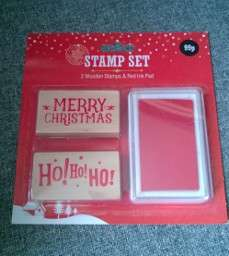 Christmas Stamp & Ink Set 99p @ Home Bargains