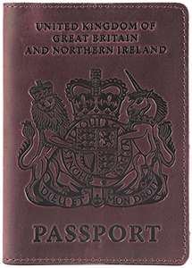 UK Leather passport holder (Various Colours) £5.99 prime / £9.98 non prime Sold by TRADE ACCESS and Fulfilled by Amazon - lightning deal