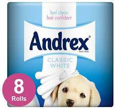 Andrex 8 pack of toilet roll was £3 now £1.50 at Tesco Bursledon Towers