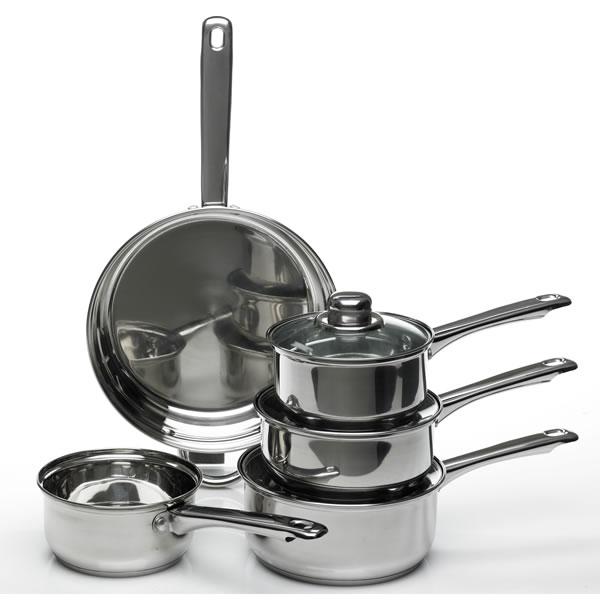 5 piece Wilko Saucepan Set - Stainless Steel, now £16 @ Wilko