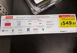 "Lenovo AIO 720 24"" i5 Touchscreen Desktop PC - £533 instore @ Currys PC World"