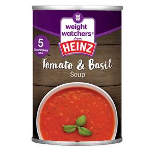 Heinz Weight Watchers Tomato & Basil soup (295G) only 19p per tin @ Poundstretchers