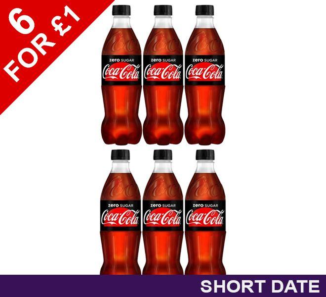 6 x Coca Cola Zero 500ml £1 / £5.95 delivered @ poundshop.com