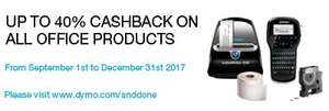 Up to 40% cashback on selected Dymo office products