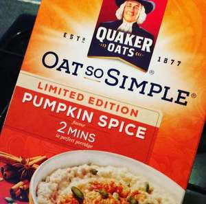 Quaker Oat So Simple Limited Edition Pumpkin Spice - £1 instore @ Morrisons