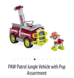 Lots of Paw Patrol reduced at Argos. Jungle vehicle and pup down to £10.99.