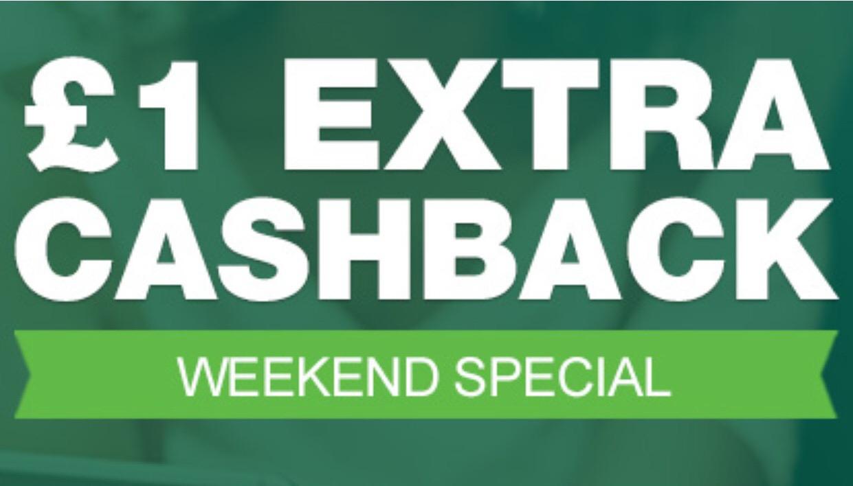 £1.00 Cashback Bonus with £10.00 spend @ Topcashback
