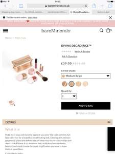 Bare Minerals Divine Decadence Set £35.10 (Was £101.50) delivered at Bare Minerals Online