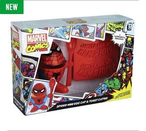 Marvel Comics Spider-Man Egg Cup and Toast Cutter Set was £9.99 now £6.99 C+C @ Argos
