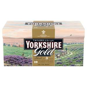 Poundland Taylors of Harrogate Yorkshire Gold Tea 240's (750g) £5.00
