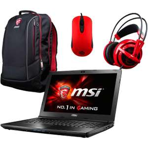 "MSI GL72M 7RDX-844UK - 17.3"" Full HD / i7 CPU / 8GB RAM / 1TB HDD + Bag, Steel series headset & Moust £809.10 @ AO (Discounts at Checkout)"