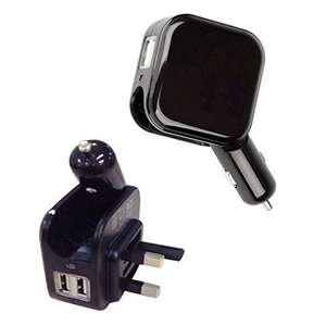 KINDEN Wall Charger 2 in 1 Dual USB Car Charge Adapter Home Travel AC Charging Plug 5V/2.1A £4.99 (Prime) £8.98 (Non Prime) @ Sold by KINDEN Shop and Fulfilled by Amazon