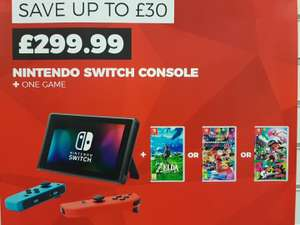 Nintendo Switch with Zelda OR Mario Kart 8 OR Splatoon 2 @ GAME instore for £299.99