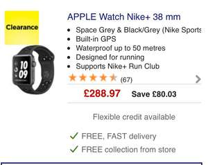 Apple watches in the clearance at currys more deals to be had - from £288.97