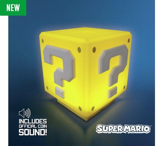 Super Mario Question Block Light now £9.49 @ Argos