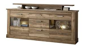 Furnline Montreal Walnut Satin Living Room Cabinet Sideboard @ Amazon