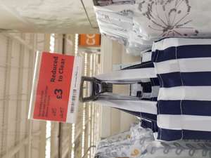Sainsburys blue striped shower curtain in-store Ashton-under-Lyne £3