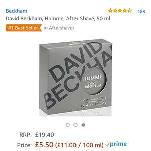 David beckham aftershave £5.50 delivered amazon prime