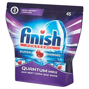 Finish quantum max 45 dishwasher tablets £4.75 subscribe and save @ Amazon