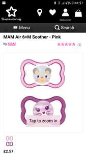 MAMS girls soothers £2.57 Superdrug
