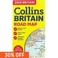 Collins 2018 Map Of Britain now £1.40 Delivered with code @ The Works (A To Z Originals Playing Card Games Set - 2 Packs Cards + 5 Dice + Book in Tin Box £3.50)