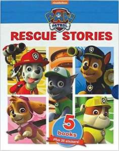 Nickelodeon PAW Patrol Rescue Stories: 5 Books plus 20 Stickers! - £5.00 - Tesco Direct