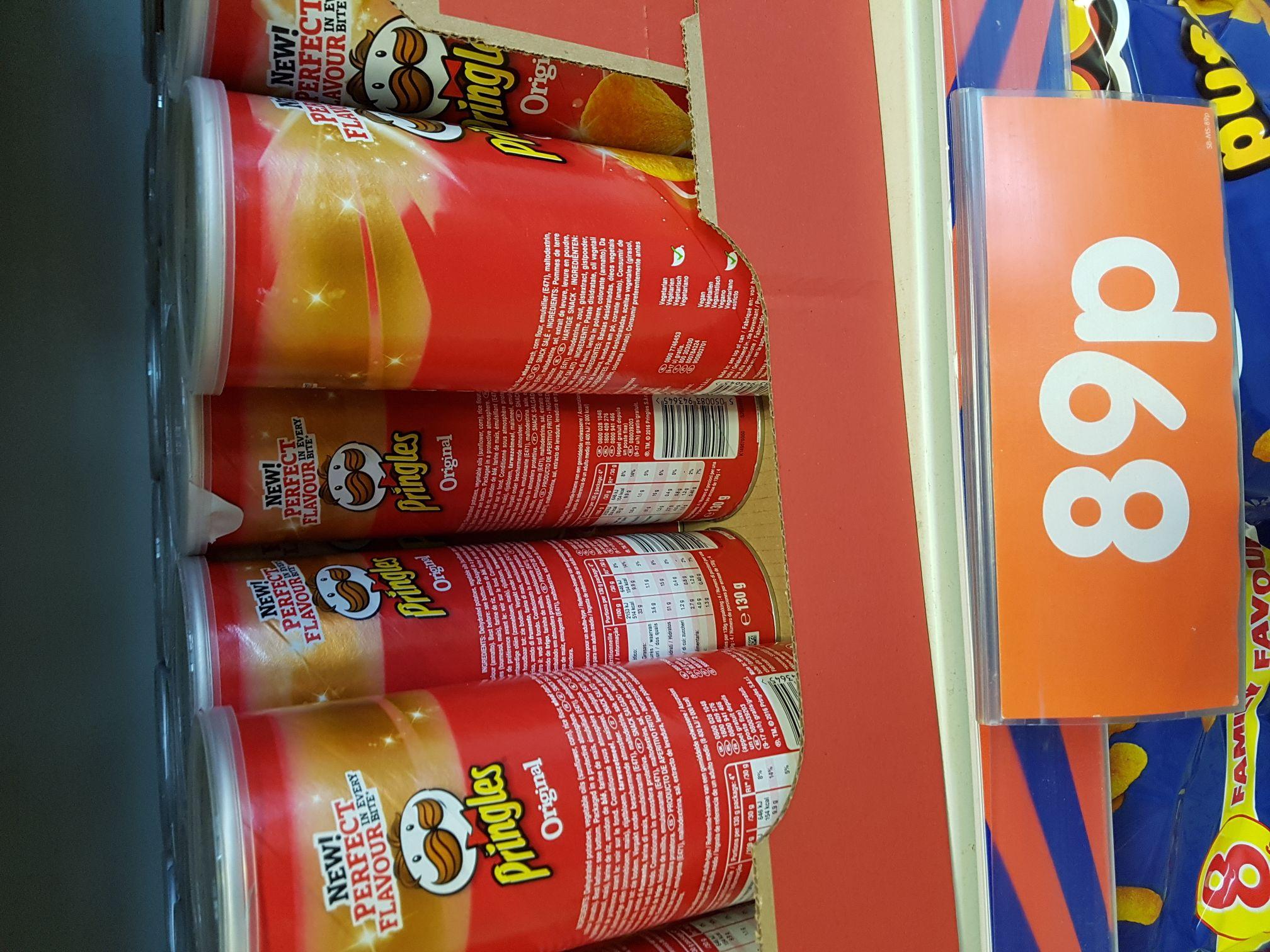Pringles 130g only 0.89p @ B&M