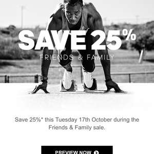 25% off, one day sale @ Adidas - Tuesday 17th October