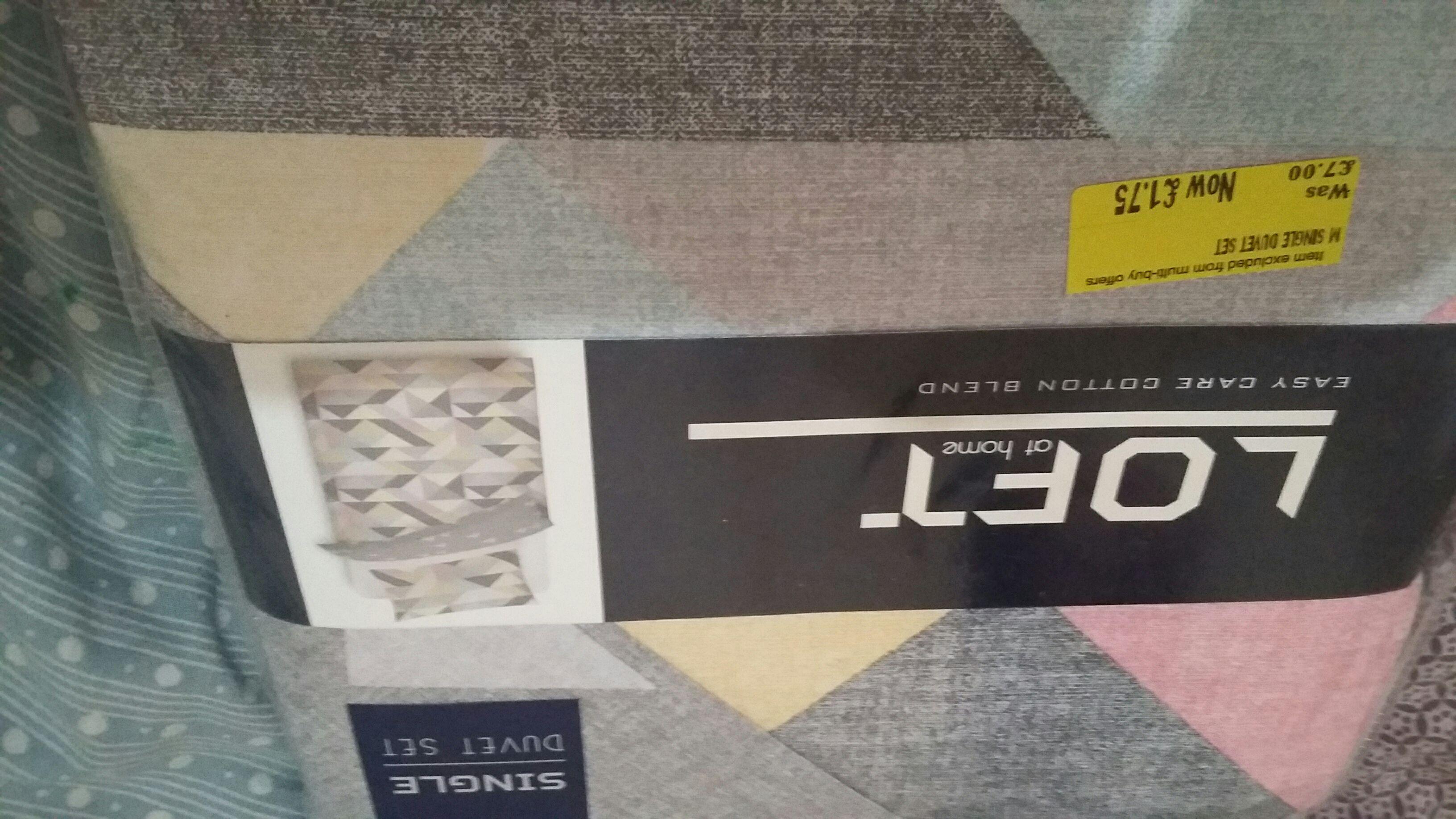 Single Duvet Set instore @ Morrisons - Byker for £1.75