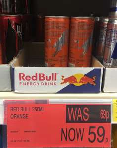 Red Bull orange (Limited Edition) just £0.59 @ B&M