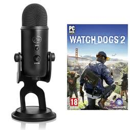 Blue Yeti microphone just £89.99 + 'free' Watch Dogs 2 (PC) free delivery at Game