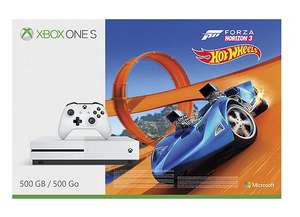 Xbox One S 500GB + Forza Horizon 3 + Hot Wheels DLC +  Additional Controller + Shadow Of War (With Steel case) + 3 months Xbox Live £249 @ Tesco Direct