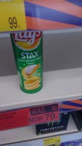 Lay's Stax sour cream and onion 170 gr 79p @ B&M
