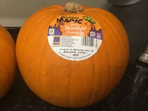 Monster Pumpkin reduced to £1.49 in ALDI