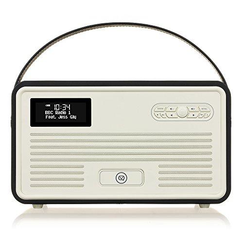 VQ Retro Mk II DAB & DAB+ Digital Radio with FM, Bluetooth, Apple Lightning Dock & Alarm Clock – Black £39 @ Amazon