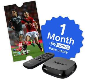 Now tv with 1 month sports - £19.99 @ Argos