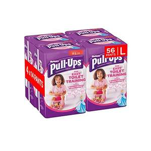 Girls huggies pull ups large 56 Pants £7.50 prime / £12.25 non prime @ Amazon