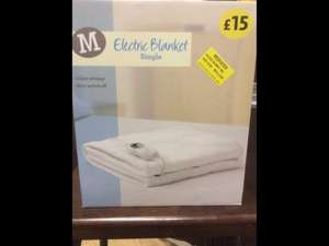 Morrisons Instore. (Wakefield Dewsbury Road) Single electric blanket £4