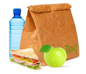 Large Reusable Brown Paper Lunch Bag for Men, Women, Kids - Insulated Cooler Strong Water Resistant Tear Proof with Magnetic Closure £2750.43 Del @ Amazon