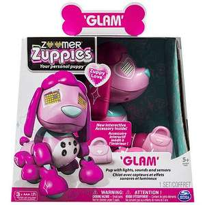 Zoomer Zuppy Love Zuppies Robot - Glam £11.99 (was £39.99) & Free C&C @ The Entertainer Online