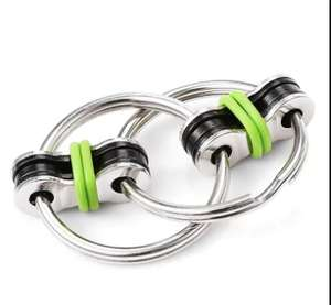 Stainless Steel Chain Puzzle Focus / Fidget Toy - Green - 8p delivered @ Gearbest
